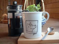 """TOMTEのコーヒー """"いわい工房""""の豆をボダムのカフェプレスで"""